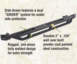 Smittybilt - Smittybilt Smittybilt Rock Crawler Side Armor (Light Texture Finish) for 07-18 Jeep Wrangler JKU 4-Door - 76634LT - Image 2