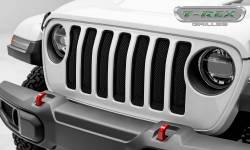 T-Rex Grilles - T REX Jeep Wrangler JL - Sport Series - Formed Mesh Grille - Installs behind factory grille - Black - 46493