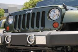 T-Rex Grilles - T REX Jeep Wrangler - Sport Series - Formed Mesh Grille - Installs behind factory grille - Black - 46481