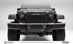 T-Rex Grilles - T REX 07-18 Jeep Wrangler - ZROADZ Series - Main Insert - Grille w/ One 10 Inch Slim Line Single Row - LED Light Bar - Z314831-10C
