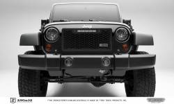 T-Rex Grilles - T REX 07-18 Jeep Wrangler - ZROADZ Series - Main Insert - Grille w/ One 10 Inch Slim Line Single Row LED Light Bar - Z314831-10T