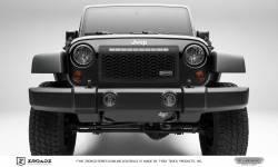 T-Rex Grilles - T REX 07-18 Jeep Wrangler - ZROADZ Series - Main Insert - Grille w/ One 20 Inch Slim Line Single Row LED Light Bar - Z314831-20T
