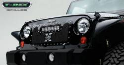 "T-Rex Grilles - T REX 07-18 Jeep Wrangler TORCH Series LED Light Grille 1 - 12"" LED Bar For off-road use only - 6314831"