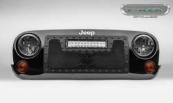 "T-Rex Grilles - T REX 07-18 Jeep Wrangler TORCH Series LED Light Grille 1 - 12"" LED Bar For off-road use only - 6314831-BR"