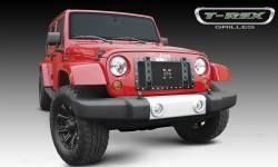 T-Rex Grilles - T REX 07-18 Jeep Wrangler X-Metal Baja Bars for 6714831 X-Metal Grille pr - 6454831