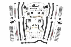 Rough Country - Rough Country 4IN JEEP LONG ARM SUSPENSION LIFT KIT (07-18 WRANGLER JK | 4-DOOR) - 78630,78530