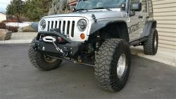 IRON CROSS - IRON CROSS Front Stubby Bumper for Jeep Wrangler JK 07-18 - NO BAR - GP-1000 - Image 4