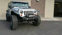 IRON CROSS - IRON CROSS Front Stubby Bumper for Jeep Wrangler JK 07-18 - NO BAR - GP-1000 - Image 3
