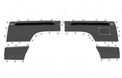 Body Armor - Rear Corner Armor - Rough Country - ROUGH COUNTRY Jeep Rear Upper and Lower Quarter Panel Armor (84-96 Cherokee XJ) - 10578