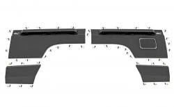 Body Armor - Rear Corner Armor - Rough Country - ROUGH COUNTRY Jeep Rear Upper and Lower Quarter Panel Armor (97-01 Cherokee XJ) - 10579