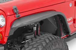 Fender Flares - Jeep Wrangler JK 07+ - Rough Country - ROUGH COUNTRY Jeep Tubular Front Fender Flares (07-18 Wrangler JK) - 10531