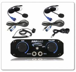 RUGGED RADIOS - RUGGED RADIOS RRP660 2 Place Intercom System with Helmet Kits