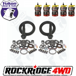 YUKON GEAR PACKAGE for Jeep Wrangler TJ Rubicon, 4.56 ratio *Includes 5 QTs Amsoil Severe Gear*