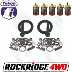 GEAR CHANGE PACKAGES BY VEHICLE - Jeep Wrangler TJ / LJ 97-06 - Yukon Gear & Axle - YUKON GEAR PACKAGE 4.56 RATIO FOR 97-06 JEEP TJ W DANA 30 FRONT & DANA 44 REAR *Includes 5 QTs Amsoil Severe Gear*