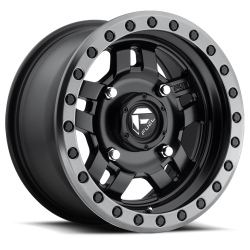 FUEL OFF-ROAD - Fuel Off-Road Anza D557 | 14x7 | 4x110 | Matte Black Anthracite Ring - D5571470A444
