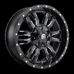 FUEL OFF-ROAD - Fuel Off-Road SLEDGE D595 | 20x7 - 4x156 | Gloss Black & Milled | D5952070A543