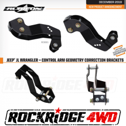 Builder Parts - Control Arms - Rubicon Express - Rubicon Express Control Arm Geometry Correction Drop Brackets for Jeep Wrangler JL 18+ - RE9801