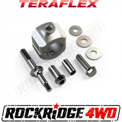 "Suspension Build Components - Steering - TeraFlex - TERAFLEX JK/JKU Steering Stabilizer Relocation Mounting Bracket Kit - Stock 1-3/8"" Tie Rod"