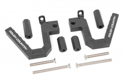 Interior Accessories - Jeep Wrangler JK Specific - Rough Country - Rough Country Jeep Front Aluminum Grab Handles (07-18 Wrangler JK)