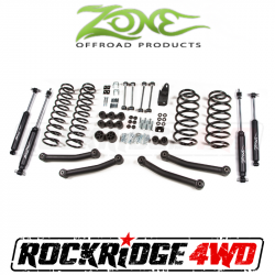 "Jeep LJ Wrangler 04-06 - Zone Offroad Products - Zone Offroad - Zone Offroad 4"" Jeep Wrangler TJ/LJ/Rubicon 97-06 Suspension System - J10N / J11N"