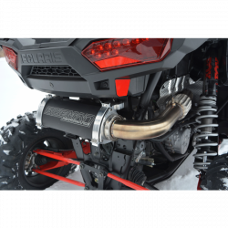 BIKEMAN PERFORMANCE - BIKEMAN PERFORMANCE 2016-UP POLARIS RZR XP TURBO | FULL STAINLESS STEEL BIG MO EXHAUST BY BMP | FITS TURBO S