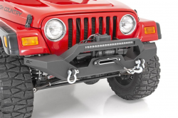 Jeep Wrangler TJ / LJ 97-06 - Front Bumpers & Stingers - Rough Country - ROUGH COUNTRY JEEP FULL WIDTH FRONT LED WINCH BUMPER (87-06 WRANGLER YJ/TJ) - 10595