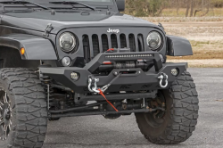 Jeep Wrangler JK 07-18 - Front Bumpers & Stingers - Rough Country - ROUGH COUNTRY JEEP FULL WIDTH FRONT LED WINCH BUMPER (07-18 WRANGLER JK) - 10596