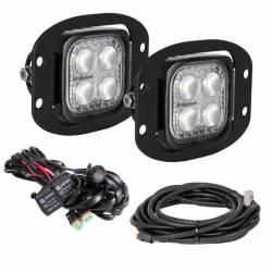 "LED LIGHTS - DURALUX - VISION X Lighting - VISION X 3"" Flush Mount Kit With (2) 60° 4 LED Mini Dura Work Lights"