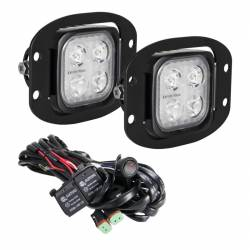 """LED LIGHTS - DURALUX - VISION X Lighting - Vision X 3"""" Flush Mount Kit With (2) Mixed 10° and 20° 4 LED Mini Dura Work Light"""
