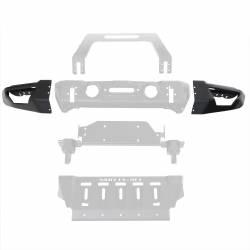 Jeep Wrangler JK 07-18 - Front Bumpers & Stingers - Smittybilt - Smittybilt Stryker Front Bumper Wings ONLY - 76731