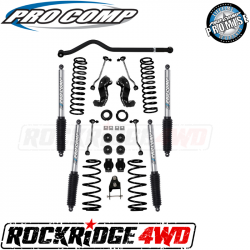 PRO COMP - Pro Comp 4 Inch Stage I Lift Kit with Twin Tube Shocks for 18+ Jeep Wrangler JLU - K3113B