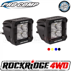 <B>HOT BUYS</B> - PRO COMP - Pro Comp 2x2 Square S4 GEN3 LED Flood Lights - 76413P