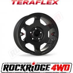 "Wheel Spacers & Adapters - Jeep Wrangler JK 07-18, Grand Cherokee WJ 99-04 - TeraFlex - TeraFlex JL/JLU–JK/JKU: Nomad Off-Road Wheel - Deluxe - 5x5"" - Metallic Black - Each"