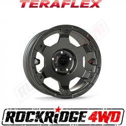 "Wheel Spacers & Adapters - Jeep Wrangler JK 07-18, Grand Cherokee WJ 99-04 - TeraFlex - TeraFlex JL/JLU–JK/JKU: Nomad Off-Road Wheel - Base - 5x5"" - Titanium Gray - Each"