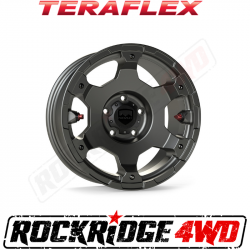 "Wheel Spacers & Adapters - Jeep Wrangler JK 07-18, Grand Cherokee WJ 99-04 - TeraFlex - TeraFlex JL/JLU–JK/JKU: Nomad Off-Road Wheel - Deluxe - 5x5"" - Titanium Gray - Each"