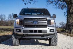 Lighting - Mounting - Rough Country - ROUGH COUNTRY FORD DUAL 10IN LED GRILLE KIT (18-19 F-150 | XL, XLT) - 70808, 70809
