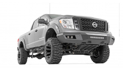 Bumpers & Tire Carriers - Rough Country - ROUGH COUNTRY NISSAN HEAVY-DUTY FRONT LED BUMPER (16-20 TITAN XD) - 10780