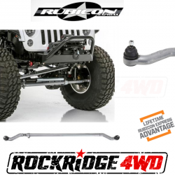 Suspension Build Components - Steering - Rubicon Express - Rubicon Express Heavy-Duty Tie Rod Bar for Jeep Wrangler JK 07-18