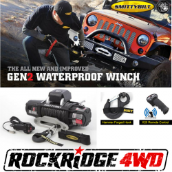Winches & Recovery Gear - Smittybilt - Smittybilt X2O GEN2 10,000 lb Winch Comp Series W/Synthetic Rope | Aluminum Fairlead | Wireless | Waterproof