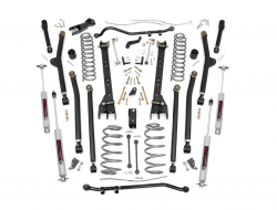 Jeep TJ Wrangler 97-06 - Rough Country - Rough Country - Rough Country 6IN JEEP LONG ARM SUSPENSION LIFT KIT (97-06 WRANGLER TJ)  - 65922