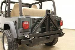 Jeep Wranger CJ 55-86 - Rear Bumpers & Tire Carriers - Rock Hard 4x4 - ROCK HARD 4X4™ PATRIOT SERIES REAR BUMPER WITH TIRE CARRIER FOR JEEP WRANGLER TJ, LJ, YJ AND CJ 1976 - 2006