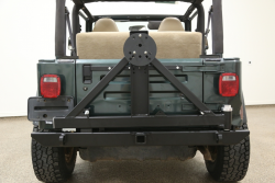 Rock Hard 4x4 - ROCK HARD 4X4™ PATRIOT SERIES REAR BUMPER WITH TIRE CARRIER FOR JEEP WRANGLER TJ, LJ, YJ AND CJ 1976 - 2006 - Image 2