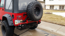 Rock Hard 4x4 - ROCK HARD 4X4™ PATRIOT SERIES REAR BUMPER WITH TIRE CARRIER FOR JEEP WRANGLER TJ, LJ, YJ AND CJ 1976 - 2006 - Image 4