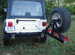 Rock Hard 4x4 - ROCK HARD 4X4™ PATRIOT SERIES REAR BUMPER WITH TIRE CARRIER FOR JEEP WRANGLER TJ, LJ, YJ AND CJ 1976 - 2006 - Image 5