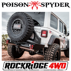 Poison Spyder - Poison Spyder Frame Mounted Tire Carrier with Camera Mount (Black) for 18+ Jeep Wrangler JL