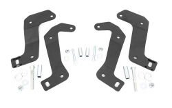 Rough Country - Suspension Components - Rough Country - ROUGH COUNTRY JEEP FRONT CONTROL ARM RELOCATION BRACKETS (18-20 WRANGLER JL / JT GLADIATOR)