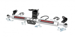 Rough Country - Steering Stabilizers - Rough Country - ROUGH COUNTRY JEEP N3 DUAL STEERING STABILIZER (18-20 WRANGLER JL | GLADIATOR JT)