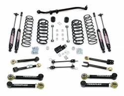 "Jeep TJ Wrangler 97-06 - TeraFlex - TeraFlex - TeraFlex TJ/LJ 3"" Suspension System w/ 8 Flexarms & 9550 Shocks"