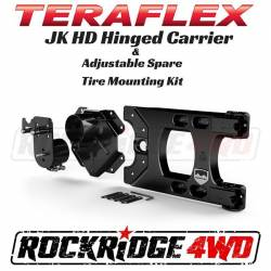 TeraFlex - Accessories - TeraFlex - TeraFlex Jeep Wrangler JK HD Hinged Carrier and Adjustable Spare Tire Mounting Kit - 4838150