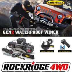<B>HOT BUYS</B> - Smittybilt - Smittybilt X2O GEN2 12,000 lb Winch Comp Series W/Synthetic Rope | Aluminum Fairlead | Wireless | Waterproof